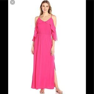 NY Collection Spaghetti Strap Halter Maxi Dress
